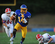 Oxford High's D.K. Metcalf (14) vs. Jackson Prep in Oxford, Miss. on Friday, August 23, 2013. Oxford won 32-20.