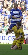 Reading, England, Nationwide Division One Football Reading v Preston North End, Reading's James Harper sends Preston skipper Chris Lucketti to his knees, at the Madejski Stadium, on 18/10/2003 [Credit  Peter Spurrier/Intersport Images]..