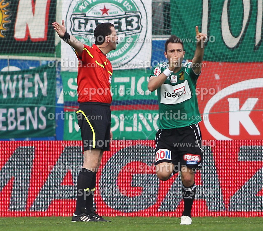 29.04.2012, Keine Sorgen Arena, Ried, AUT, 1. FBL, SV Josko Ried vs SK Rapid Wien, 32. Spieltag, im Bild Jubel Ignacio Rodriguez-Ortiz, (SV Josko Ried, #11), during the Austrian Bundesliga Match, 32nd Round, between SV Josko Ried and SK Rapid Wien at the Keine Sorgen Arena, Ried, Austria on 20120429. EXPA Pictures © 2012, PhotoCredit: EXPA/ R. Hackl