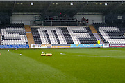 Seating displaying the clubs initials in the ahead of the Ladbrokes Scottish Premiership match between St Mirren and Livingston at the Simple Digital Arena, Paisley, Scotland on 2nd March 2019.