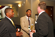 (from left) Marcus Taylor of Anthem Blue Cross & Blue Shield, Quentin Blanton of Anthem Blue Cross & Blue Shield and John North of the Better Business Bureau during the BBB's Eclipse Integrity Awards dinner at the Ponitz Center at Sinclair Community College in downtown Dayton, Tuesday, May 8, 2012.