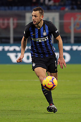 January 19, 2019 - Milan, Milan, Italy - Stefan De Vrij #6 of FC Internazionale Milano in action during the serie A match between FC Internazionale and US Sassuolo at Stadio Giuseppe Meazza on January 19, 2019 in Milan, Italy. (Credit Image: © Giuseppe Cottini/NurPhoto via ZUMA Press)
