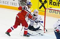 Jaromir Jagr / Florient Hardy - 07.05.2015 - Republique Tcheque / France - Championnat du Monde de Hockey sur Glace <br />Photo : Xavier Laine / Icon Sport
