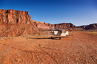 Located on the Dirty Devil River, this airstrip is a great base to explore the surrounding cabins.