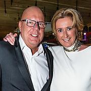 NLD/Amsterdam/20161208 - Vipnight 10de Masters of LXRY, Gaston Starreveld met zijn partner Marisa Smid