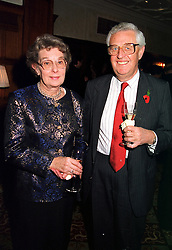 MR & MRS JOHN COLE he is the TV News correspondant, at a reception in London on 10th November 1999.MYZ 41