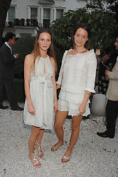 Left to right, AMANDA CROSSLEY and INDIA LANGTON at a party to celebrate Le Touessrok a luxury resort in Mauritius, held at The Hempel, 31-35 Craven Hill Gardens, London W2 on 12th June 2007.<br />