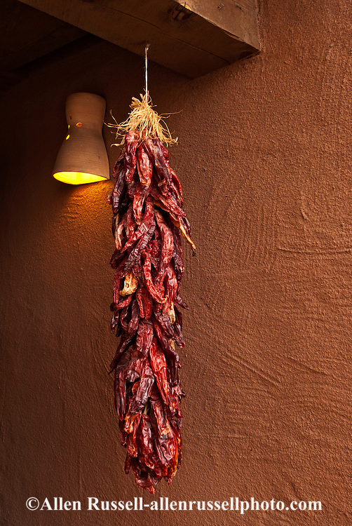 Ristra, chile peppers, Santa Fe New Mexico