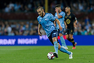 SYDNEY, AUSTRALIA - OCTOBER 27: Sydney FC midfielder Joshua Brillante (6) dribbles the ball at The Hyundai A-League Round 1 soccer match between Sydney FC and Western Sydney Wanderers FC The Sydney Cricket Ground in Sydney on October 27, 2018. (Photo by Speed Media/Icon Sportswire)