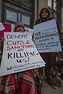 4 Mar 2016 - Disability rights protesters demonstrate against the Department of Work & Pensions Jobc