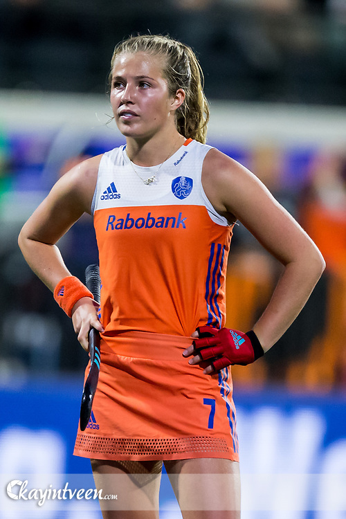 AMSTERDAM - Belgie - Nederland , Hockey , Ek Hockey 2017 dames / Euro Hockey Championships 2017 , Wagener Stadion , 20-08-2017 , Nederland speelster Xan de Waard
