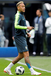 June 21, 2018 - Saint Petersburg, Russia - Neymar during a Brazil national team training session during the FIFA World Cup 2018 on June 21, 2018 at Saint Petersburg Stadium in Saint Petersburg, Russia. (Credit Image: © Mike Kireev/NurPhoto via ZUMA Press)
