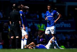 Richarlison of Everton lies on the ground injured - Mandatory by-line: Robbie Stephenson/JMP - 21/04/2019 - FOOTBALL - Goodison Park - Liverpool, England - Everton v Manchester United - Premier League