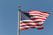 LOS ANGELES, CA - MAY 27:  An American flag flies high over the stadium during the Los Angeles Dodgers game against the Houston Astros on Sunday, May 27, 2012 at Dodger Stadium in Los Angeles, California. The Dodgers won the game 5-1. (Photo by Paul Spinelli/MLB Photos via Getty Images)