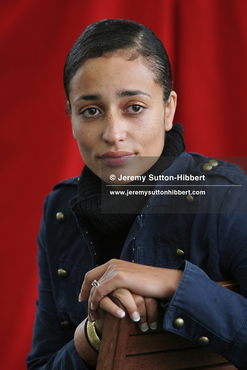 ZADIE SMITH, young British literary superstar, author of 'White teeth', and now 'On Beauty'. Edinburgh International Book Festival 2005, Edinburgh, Scotland.