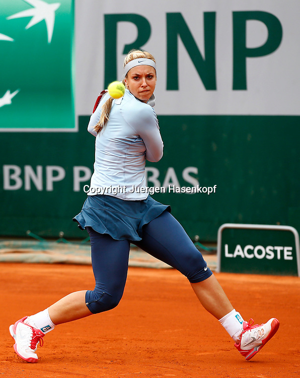 French Open 2013, Roland Garros,Paris,ITF Grand Slam Tennis Tournament, Sabine Lisicki (GER),Aktion,<br /> Einzelbild,Ganzkoerper,Hochformat,