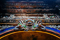Ornate royal carvings at the Imperial Citadel in Hue, Vietnam.