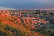 As an evening storm approached, the sun came out for just a moment over the Badlands National Park. After driving and trying to make it to this overlook, this was the only shot I took before it was gone.