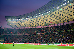 17.05.2014, Olympiastadion, Berlin, GER, DFB Pokal, Borussia Dortmund vs FC Bayern Muenchen, Finale, im Bild Stimmungsvoller Himmel blaue Stunde ueber Stadion waehrend Gewitter und Regen // during the mens DFB Pokal final match between Borussia Dortmund and FC Bayern Munich at the Olympiastadion in Berlin, Germany on 2014/05/17. EXPA Pictures © 2014, PhotoCredit: EXPA/ Eibner-Pressefoto/ Weber<br /> <br /> *****ATTENTION - OUT of GER*****