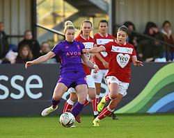 Carla Humphrey of Bristol City keeps the pressure on Rhiannon Roberts of Liverpool Women - Mandatory by-line: Paul Knight/JMP - 17/11/2018 - FOOTBALL - Stoke Gifford Stadium - Bristol, England - Bristol City Women v Liverpool Women - FA Women's Super League 1