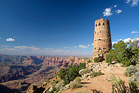 Desert View Watchtower, is a 70-foot-high stone building located on the South Rim of the Grand Canyon National Park, Arizona USA