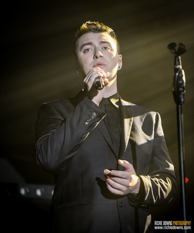 Sam Smith performing at Echostage in DC on September 16, 2014.<br />