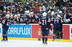 Players of USA during Ice Hockey match between USA and Finland at Day 1 in Group B of 2015 IIHF World Championship, on May 1, 2015 in CEZ Arena, Ostrava, Czech Republic. Photo by Vid Ponikvar / Sportida