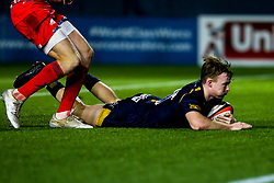 Gareth Simpson of Worcester Cavaliers scores a try - Mandatory by-line: Robbie Stephenson/JMP - 25/11/2019 - RUGBY - Sixways Stadium - Worcester, England - Worcester Cavaliers v Sale Jets - Premiership Rugby Shield