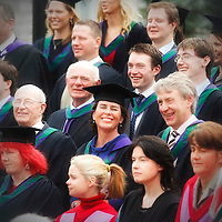 Degree recepients after the Autumn Graduations in UCC.  Photograph by Tomas Tyner, UCC.