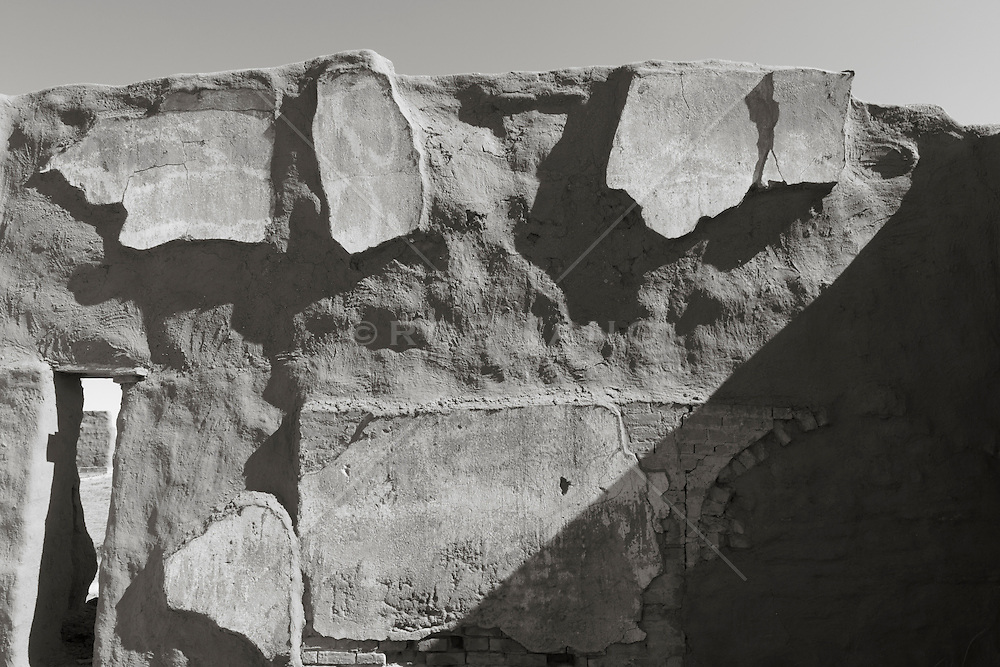 wall of an adobe building at Fort Union National Monument in New Mexico