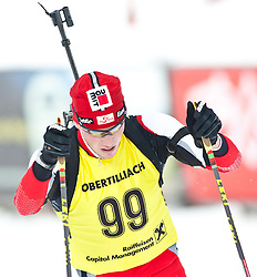 11.12.2010, Biathlonzentrum, Obertilliach, AUT, Biathlon Austriacup, Sprint Men, im Bild Albert Herzog (AUT, #99). EXPA Pictures © 2010, PhotoCredit: EXPA/ J. Groder