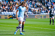 Manchester City Women forward Janine Beckie (11) reacts during the FA Women's Super League match between Manchester City Women and BIrmingham City Women at the Sport City Academy Stadium, Manchester, United Kingdom on 12 October 2019.