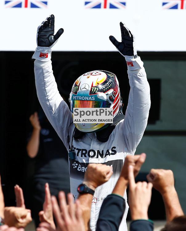 FORMULA 1 SANTANDER BRITISH GRAND PRIX .. Lewis Hamilton winner of the British GP of the British GP...(c) STEPHEN LAWSON | SportPix.org.uk