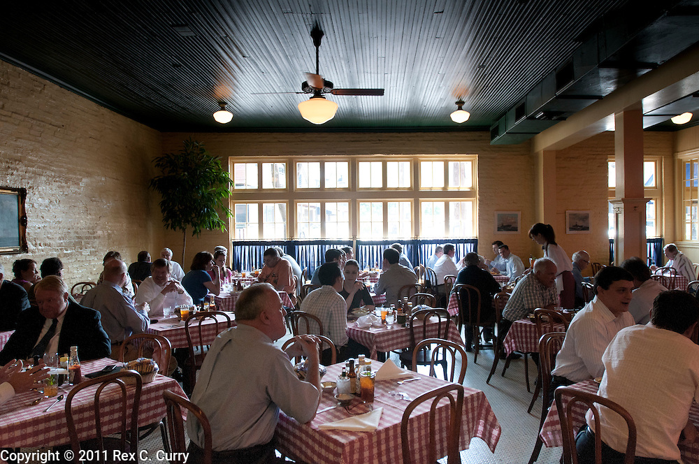 Dining room of the S&D Oyster Company in Dallas, Texas..Photo by Rex C. Curry....