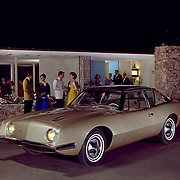 1963 Studebaker Avanti promotional image.  Raymond Loewy is standing on the right.