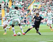 Celtic's Efe Ambrose tackles Dundee's Jim McAlister -  Celtic v Dundee - SPFL Premiership at Celtic Park<br /> <br /> <br />  - © David Young - www.davidyoungphoto.co.uk - email: davidyoungphoto@gmail.com