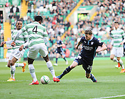 Celtic&rsquo;s Efe Ambrose tackles Dundee's Jim McAlister -  Celtic v Dundee - SPFL Premiership at Celtic Park<br /> <br /> <br />  - &copy; David Young - www.davidyoungphoto.co.uk - email: davidyoungphoto@gmail.com