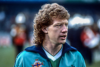 Jimmy Nicholl, N Ireland & Toronto Blizzards footballer, 19850505JN.<br /> <br /> Copyright Image from Victor Patterson,<br /> 54 Dorchester Park, <br /> Belfast, UK, BT9 <br /> <br /> t1: +44 28 9066 1296 (from Rep of Ireland 048 90661296)<br /> t2: +44 28 9002 2446 (from Rep of Ireland 048 9002 2446)<br /> <br /> m: +44 7802 353836<br /> <br /> e: victorpatterson@me.com<br /> www.victorpatterson.com<br /> <br /> Please see my Terms and Conditions of Use at www.victorpatterson.com. It is IMPORTANT that you familiarise yourself with them.<br /> <br /> Images used on the Internet must be visibly watermarked i.e. © Victor Patterson<br /> within the body of the image and copyright metadata must not be deleted. Images <br /> used on the Internet have a size restriction of 4kbs and will be chargeable at current<br />  NUJ rates unless agreed otherwise.<br /> <br /> This image is only available for the use of the download recipient i.e. television station, newspaper, magazine, book publisher, etc, and must not be passed on to any third <br /> party. It is also downloaded on condition that each and every usage is notified within 7 days to victorpatterson@me.com<br /> <br /> The right of Victor Patterson to be identified as the author is asserted in accordance with The Copyright Designs And Patents Act (1988). All moral rights are asserted.