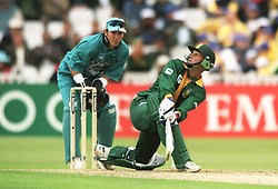 South Africa's Gary Kirsten hits the sky high for six runs