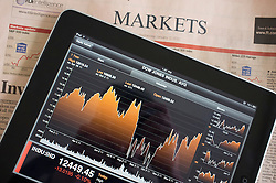 Using iPad to show stock market data using a financial application