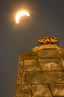 2017 solar eclipse at the Wright Brothers National Memorial.