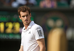 LONDON, ENGLAND - Wednesday, June 30, 2010: Andy Murray (GBR) during the Gentlemen's Singles Quarter-Final on day nine of the Wimbledon Lawn Tennis Championships at the All England Lawn Tennis and Croquet Club. (Pic by David Rawcliffe/Propaganda)