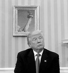 President-elect Donald Trump looks on in the Oval Office of the White House during a meeting with U.S. President Barack Obama in their first public step toward a transition of power November 10, 2016 in Washington, DC. Photo by Olivier Douliery/ABACA