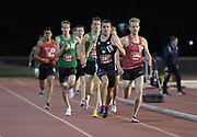 May 2, 2019; Stanford, CA, USA; Adam Palamar (287) of Vic City Elite wins a 1,500m heat in 3:42.11 during the 24th Payton Jordan Invitational at Cobb Track & Angell Field.
