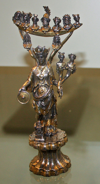 Silver statuettes of deities. Roman, made about AD 150-220 From Macon
