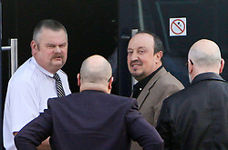 © Licensed to London News Pictures. 11/03/2016. Newcastle, UK. RAFAEL BENITEZ arrives at the Newcastle United Training Ground on March 11, 2016. Benitez is expected become the new manager at NUFC following the sacking of Steve McClaren today.   Photo credit: Adam Davies/LNP