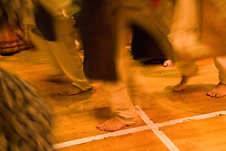 Men dancing during the celebration of Navratri; the Hindu festival of Nine Nights,