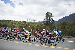 The front of the race reaches Sorensens on Stage 2 of the Amgen Tour of California - a 108 km road race, starting and finishing in South Lake Tahoe on May 18, 2018, in California, United States. (Photo by Balint Hamvas/Velofocus.com)