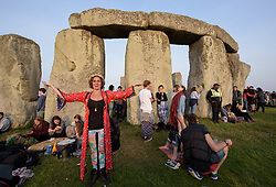 © Licensed to London News Pictures.21/06/2017. Stonehenge, Amesbury, Wiltshire, UK. Tania at the Summer Solstice celebrations at Stonehenge on the longest day of the year. Photo credit : Simon Chapman/LNP
