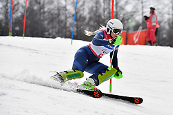 GALLAGHER Kelly B3 GBR Guide: SMITH Gary competing in the ParaSkiAlpin, Para Alpine Skiing, Slalom at the PyeongChang2018 Winter Paralympic Games, South Korea.
